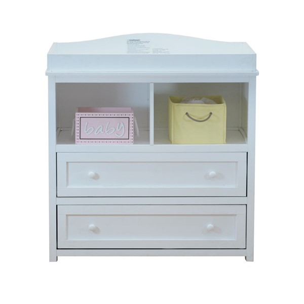 AFG Baby Furniture Leila White Two Drawers Changer With Pad AFG-008W-3353-1