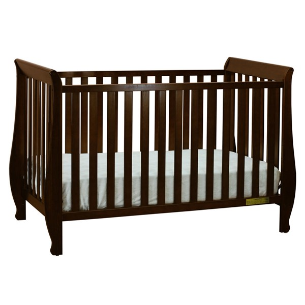 AFG Baby Furniture Naomi Espresso Convertible Crib with Toddler Rail AFG-009E