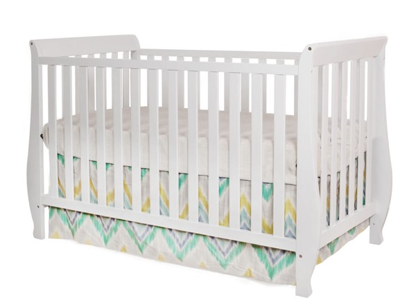 AFG Baby Furniture Naomi White Toddler Rail Convertible Crib AFG-009W