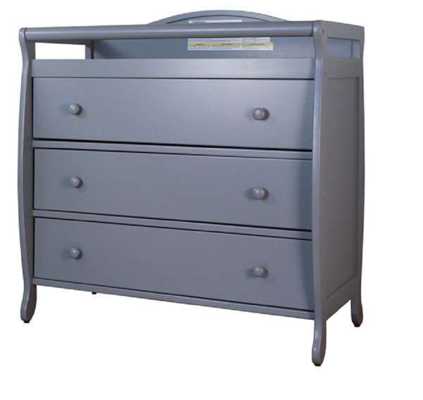 AFG Baby Furniture Grace Gray Three Drawers Changer AFG-3358G