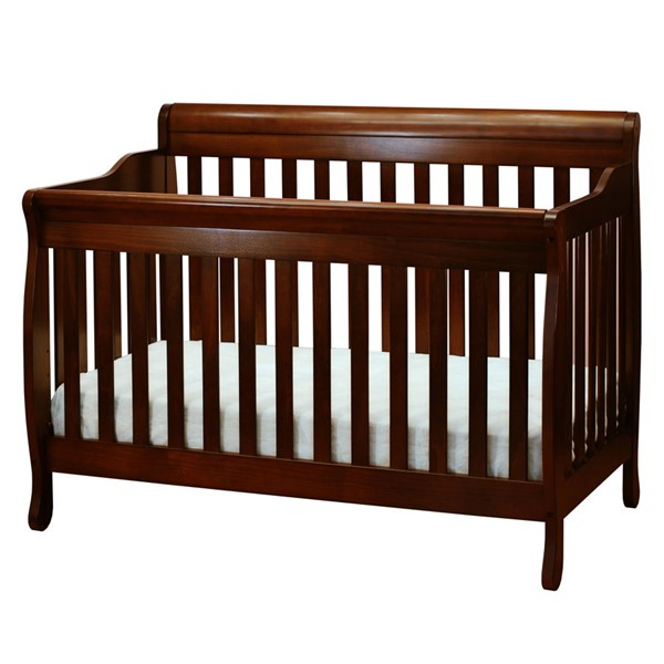 AFG Baby Furniture Alice Espresso Convertible Crib with Toddler Rail AFG-4689E