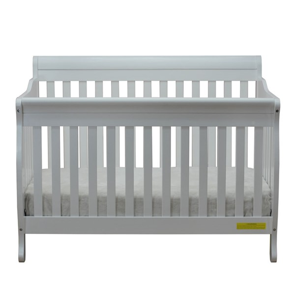 AFG Baby Furniture Alice White Convertible Crib with Toddler Rail AFG-4689W
