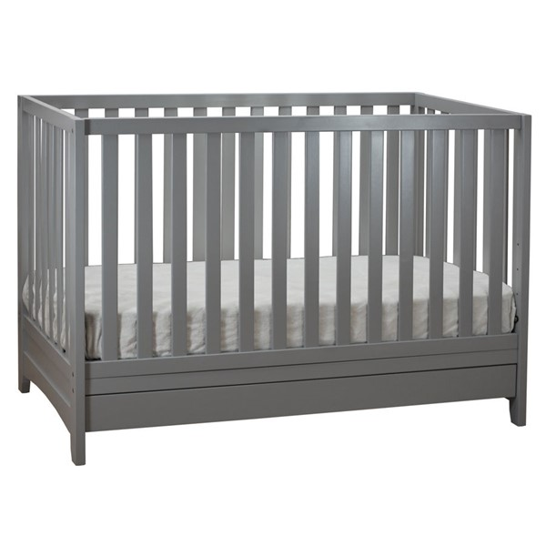 AFG Baby Furniture Mila Gray 3 In 1 Convertible Crib AFG-618G