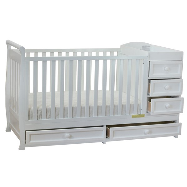 AFG Baby Furniture Daphne White 3 In 1 Crib and Changer Combo AFG-661W
