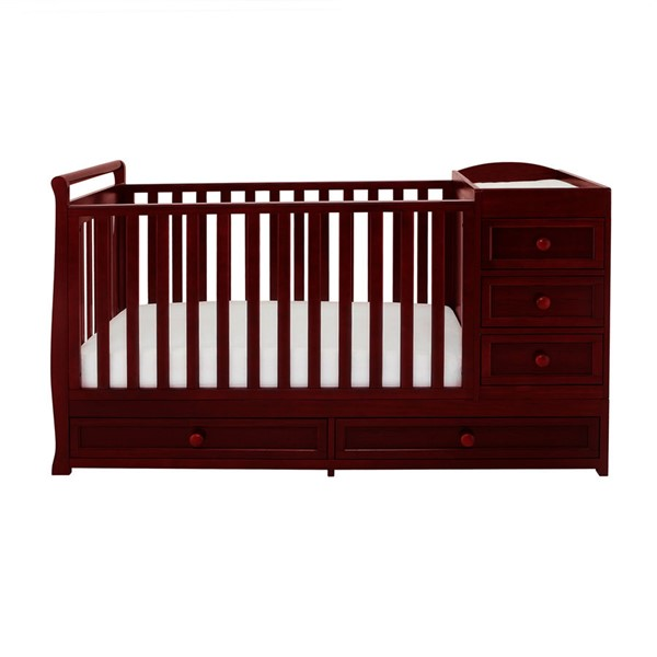 AFG Baby Furniture Daphne Cherry 3 In 1 Crib and Changer Combo AFG-662C