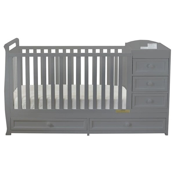 AFG Baby Furniture Daphne Gray 3 In 1 Crib and Changer Combo AFG-664G