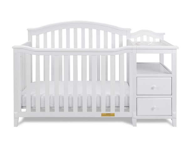 AFG Baby Furniture Kali White 4 In 1 Crib and Changer AFG-4566W