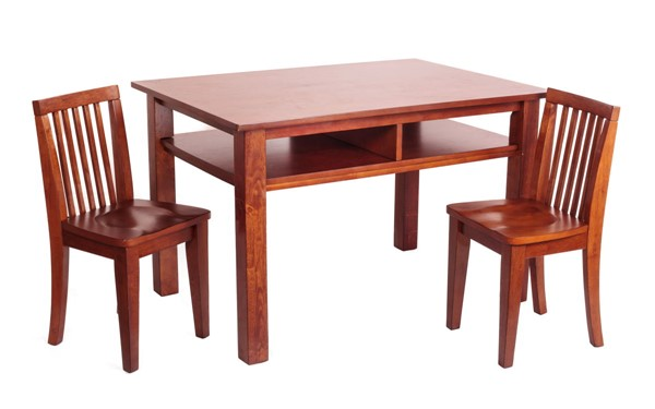 AFG Baby Furniture Newton Mahogany Kids Table and Chair Set AFG-88A