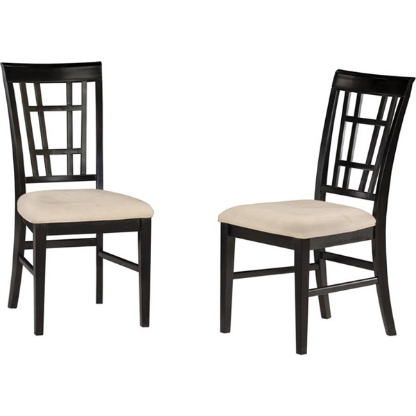 Montego Bay Espresso Dining Chairs w/Oatmeal Cushions Seat AD773101