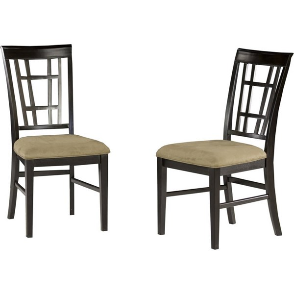 Montego Bay Espresso Dining Chairs w/Cappucino Cushions Seat AD773131