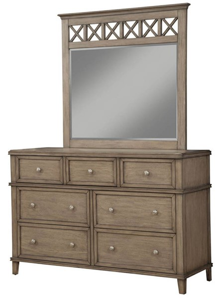 Alpine Furniture Potter French Truffle Dresser and Mirror ALPN-1055-03-DRMR