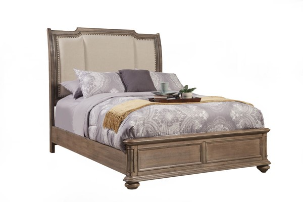Alpine Furniture Melbourne French Truffle Queen Bed ALPN-1200-01Q