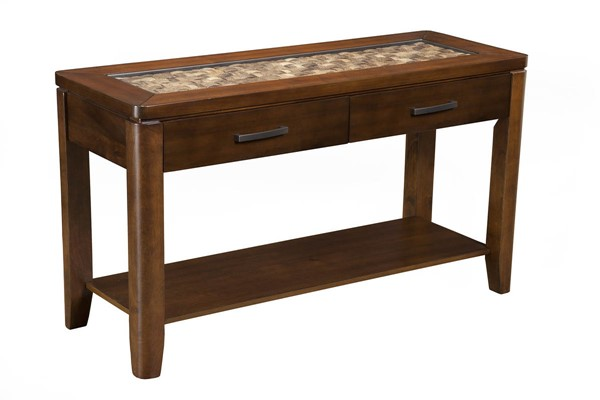 Alpine Furniture Granada Brown Merlot Sofa Table ALPN-1437-23