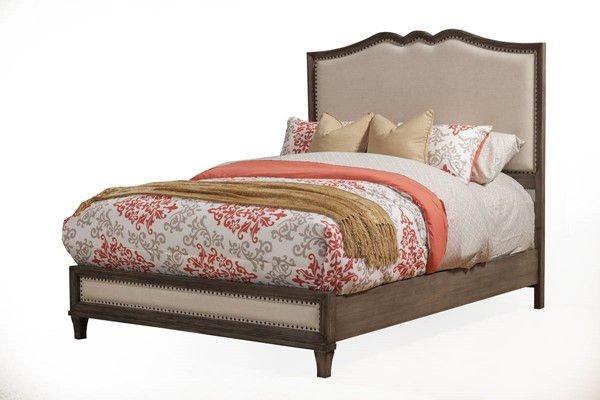 Alpine Furniture Charleston Antique Grey King Bed ALPN-1500-07EK