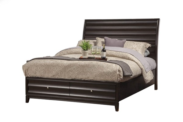 Alpine Furniture Legacy Black Cherry Queen Storage Bed ALPN-1788-81Q