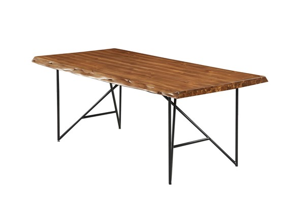 Alpine Furniture Live Edge Light Walnut Dining Table ALPN-1968-01