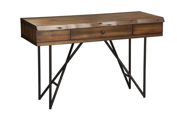 Alpine Furniture Live Edge Light Walnut Writing Desk ALPN-1968-66
