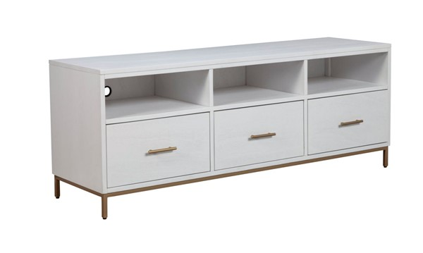 Alpine Furniture Madelyn White TV Console ALPN-2010-10