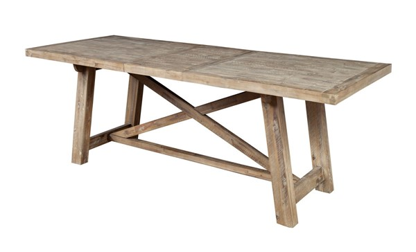 Alpine Furniture Newberry Weathered Natural Dining Table ALPN-2068-01