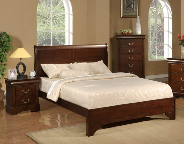 Alpine Furniture West Haven Cappuccino 2pc Kids Bedroom Set with Full Bed ALPN-2200F-KBR-S1