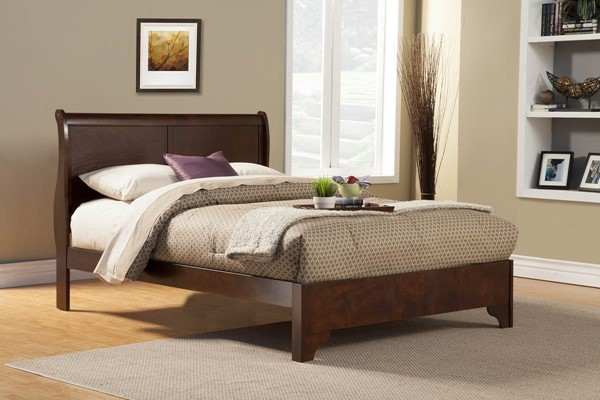 Alpine Furniture West Haven Cappuccino Beds ALPN-2200-BEDS-VAR