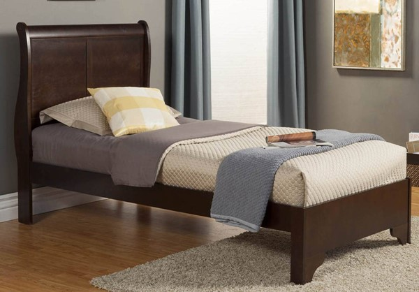Alpine Furniture West Haven Cappuccino Twin Bed ALPN-2200T
