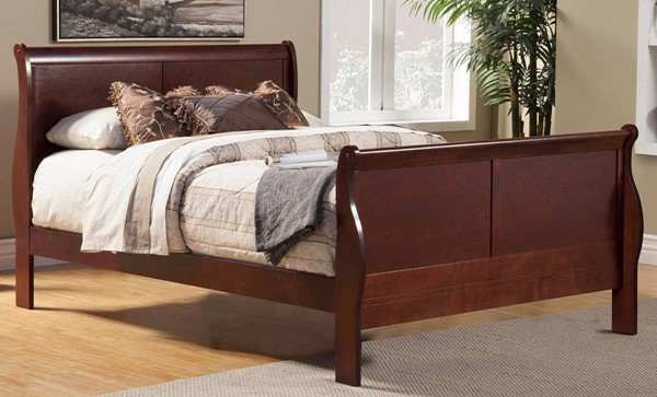 Alpine Furniture Louis Philippe II Cherry Full Bed ALPN-2700F