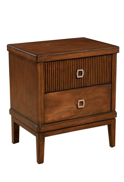 Alpine Furniture Rex Burgandy Nightstand ALPN-3900-02