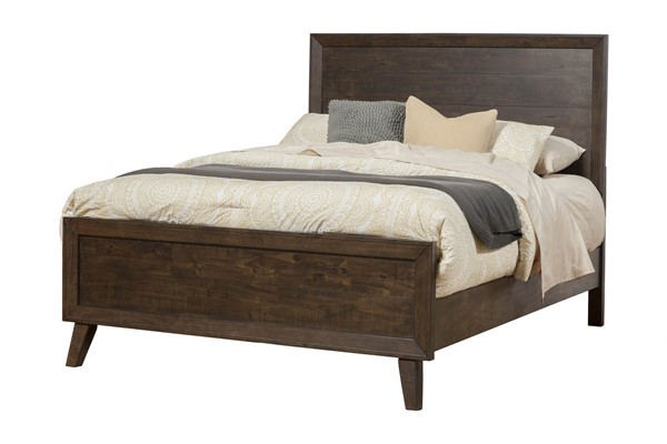 Alpine Furniture Alcott Tobacco Cal King Panel Bed ALPN-5074-07CK