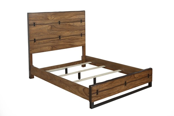 Alpine Furniture Live Edge Tobacco King Bed ALPN-5200-07EK