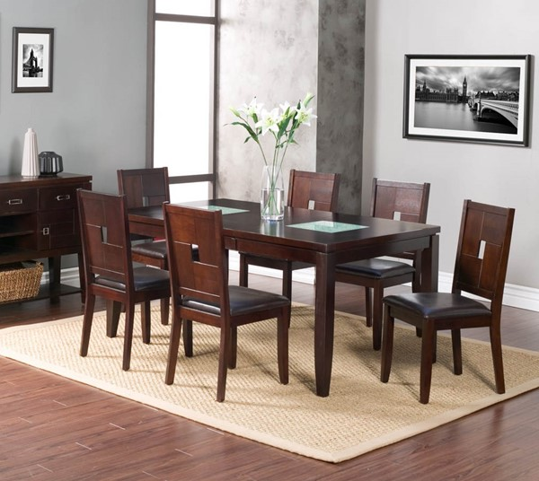 Alpine Furniture Lakeport Espresso 7pc Dining Room Set ALPN-551-01-DR-S1