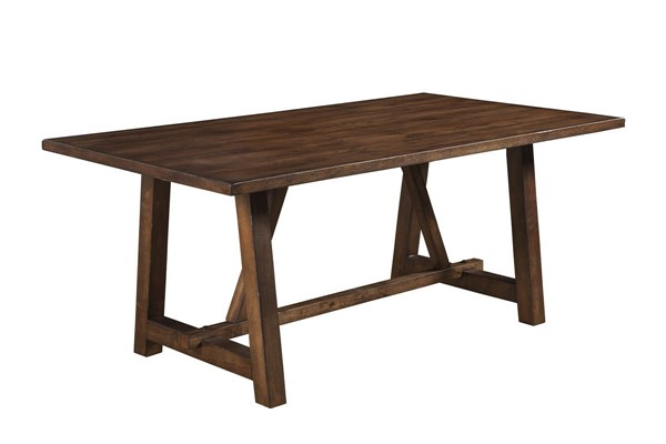 Alpine Furniture Arendal Burnished Dark Oak Dining Table ALPN-5672-01