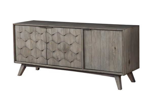 Alpine Furniture Shimmer Antique Grey TV Console ALPN-6600-10