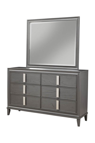 Alpine Furniture Lorraine Dark Grey Dresser and Mirror ALPN-8171-03-DRMR
