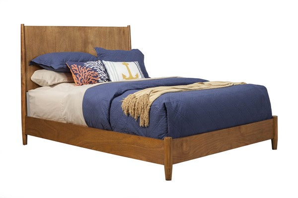 Alpine Furniture Flynn Acorn Cal King Panel Bed ALPN-966-07CK