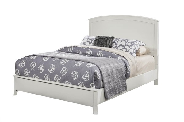 Alpine Furniture Baker White Cal King Panel Bed ALPN-977-W-07CK