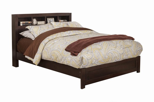 Alpine Furniture Solana Cappuccino Queen Bookcase Bed ALPN-NSK-01Q