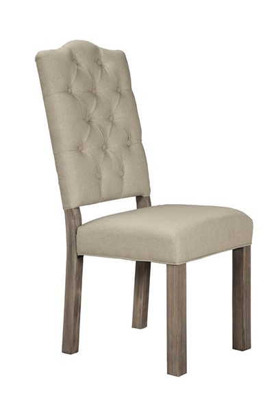 2 Alpine Furniture Fiji Weathered Grey Side Chairs ALPN-ORI-814-02