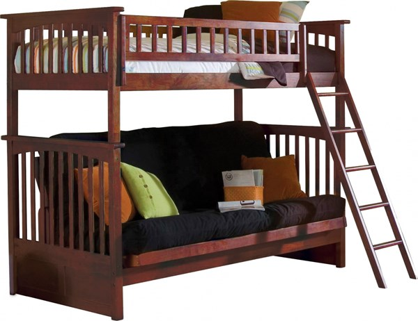 columbia bunk bed twin over full futon in an antique