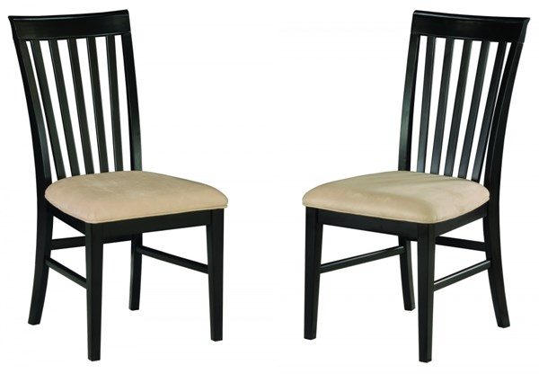 Mission Espresso Dining Chairs w/Cushions Seat AD7711-E