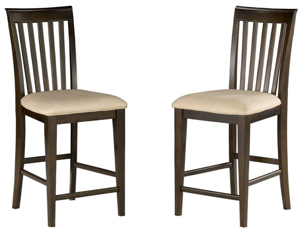 Mission Classic Antique Walnut Wood Fabric Pub Chairs AD77120-AW