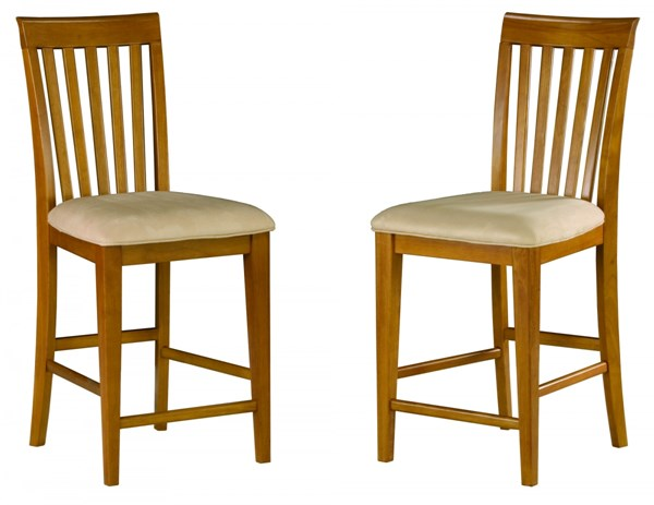 Mission Classic Caramel Latte Solid Wood Fabric Pub Chairs AD77120-CL