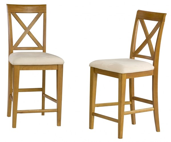 Lexi Caramel Latte Solid Wood Fabric Pub Chairs AD77220-CL