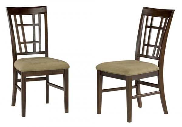 Montego Bay Espresso Wood Fabric Dining Chairs AD77310-E