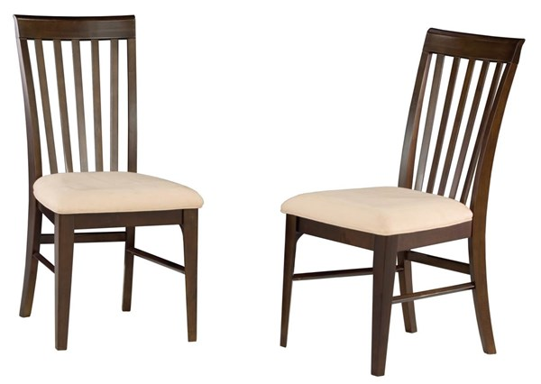 Montreal Antique Walnut Wood Pub Chairs w/Cappucino Seat Cushions AD774234
