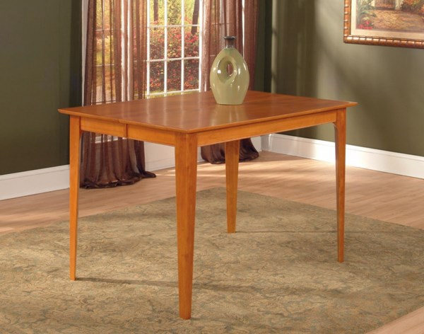Atlantic Furniture Montreal Caramel Latte Pub Table with Solid Top AD783327