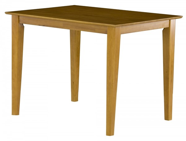 Shaker Caramel Latte Pub Table w/Solid Wood Top AD784227