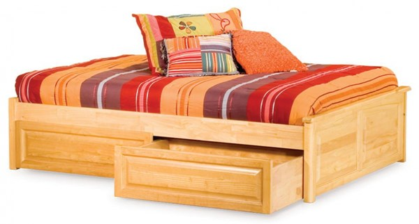 Concord Traditional Natural Maple Wood Twin Bed w/Flat Panel Footboard AP8122115