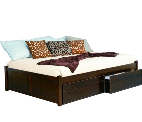 Concord Antique Walnut King Bed w/Flat Panel Footboard AP8152114