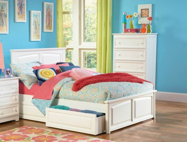 Monterey White Solid Wood Twin Storage Bed w/Raised Panel Footboard AP8624132